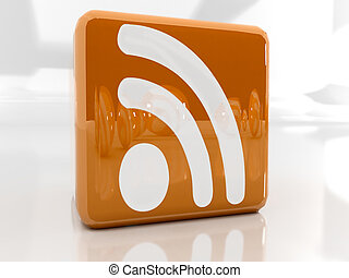 rss icon - Feed or Rss icon, used in internet transmision...