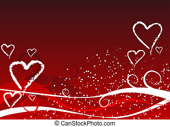 Valentines background - Abstract vector illustration of a...
