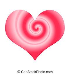 Stylized love symbol - love shape isolated on white...