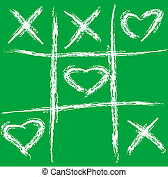 Tic tac love - Abstract vector illustration of a tic tac toe...
