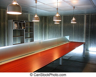 Empty office space - An empty modern style office space with...