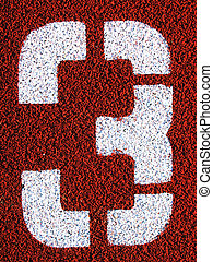 Field Markings - Stenciled number - 3