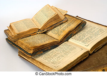 Antiquarian Books - two isolated antiquarian religious books...