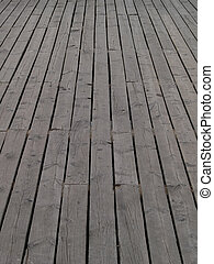 Deck - Wooden deck of a pier