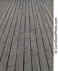 Deck - Wooden deck of a pier