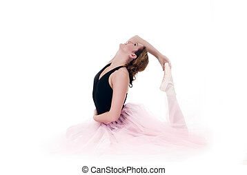 High key Pretty ballerina - High key portrait of a...