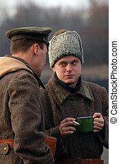 Civil War 1918 in Russia - reenacting