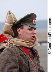 Russian officer 1918 - VCivil War reenacting