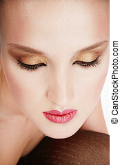 Diva - Close-up portrait of beautiful woman with...