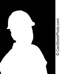 Construction Worker Silhouette Illustration - An...