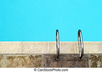 Handles - Pool with still clear water and handles