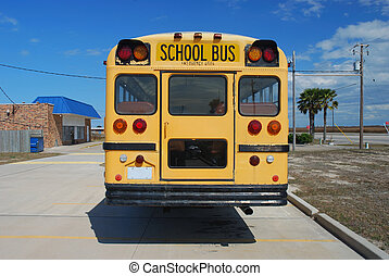 American School Bus - Yellow American School Bus