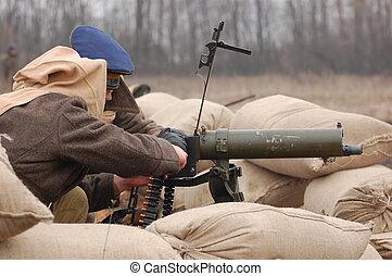 Civil War 1918. Gunner - reenacting