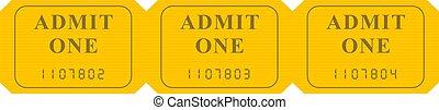ticket strip