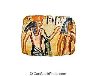 egyptian souvenir 01 - egyptian souvenir bas-relief with...