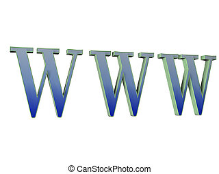 World Wide Web - Abstract 3D the logo image World Wide Web