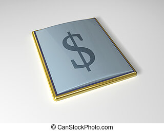 3d icon dollar