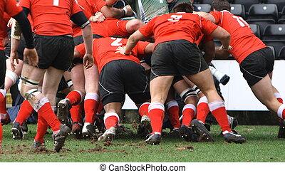 hombres, juego, rugby