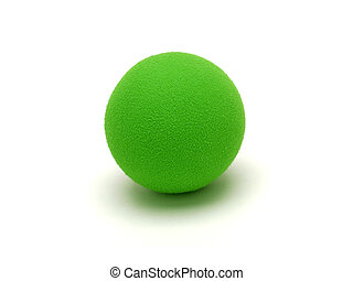 Green Ball - Isolated shot of a green ball.