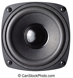 Loud Speaker - Black loud speaker with clipping path...