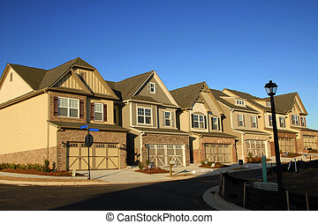 Townhouses - Early Morning Sunrise on New Townhouses for...