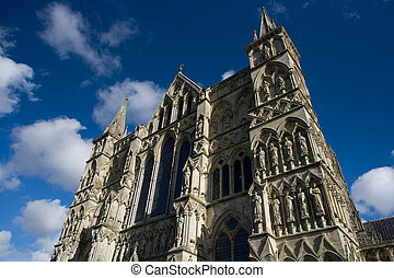 Salisbury Cathedral - View of Salisbury Cathedral in England...