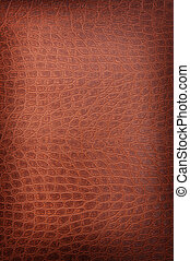 light brown crackled leather background shot square on