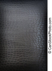 very dark brown crackled leather background shot square on