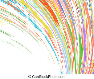 Color streak - Abstract design of colorful streaks