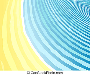 Seaside background - Abstract background of a beach and sea