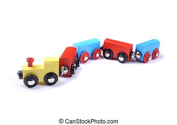 train toy - color train toy on the white background