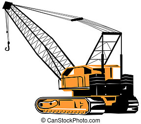 Crane - Illustration on construction equipments