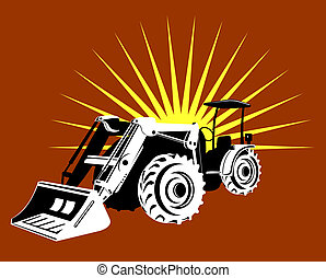 Digger - Illustration on construction equipment