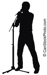singer - silhouette of the singer, made from my photo