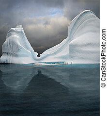 swimming pool - iceberg with penguins looks like swimming...
