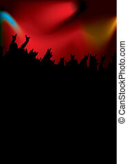 rock concert tall - rock concert in many colours back lit...