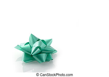green present - green bow for a nice present