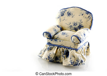 blue-white chair