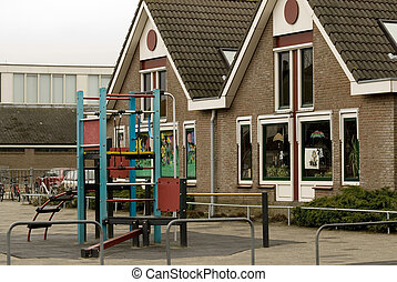 Primary school - primary school with toys outdoor