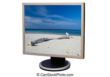 Liquid crystal display - Photo of a flat screen display...