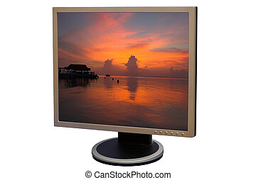 Liquid crystal display - Photo of a flat screen display LCD...