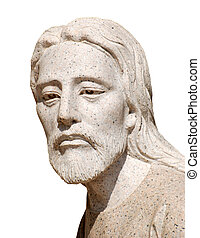 Jesus Christ Statue - Statue of Jesus Christ isolated over...