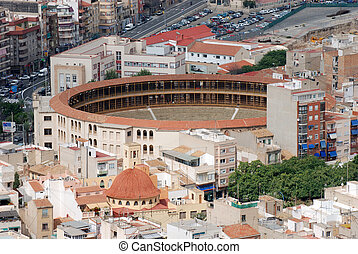 The Plaza de Toros bullring in Alicante, Spain