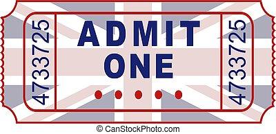 british ticket - admission ticket to a British event...