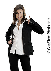 Happy Business woman - Portrait of a young and beautiful...