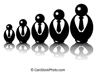 Babusiness - Abstract vector of babuschka businesspuppets