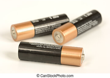 batteries - image of some alkaline batteries isolated in a...