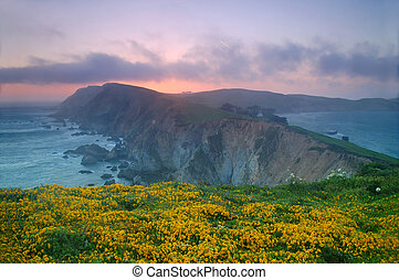 Point Reyes Sunset - Sunset at Point Reyes, California