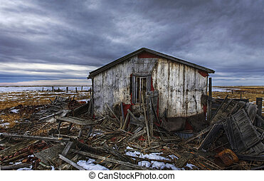 Times past - Old abandoned and derelict home on the prairie