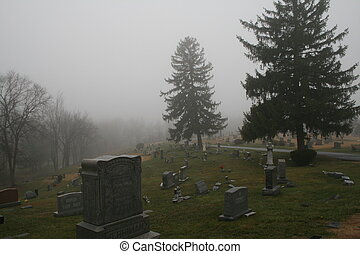 Cold morning - in the graveyard